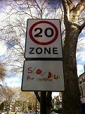 20 mhp zone sign