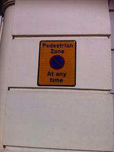 pedestrial zone