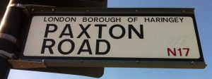 road sign paxton
